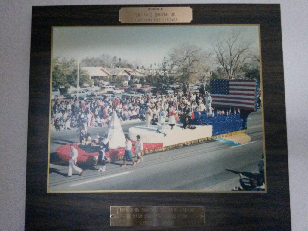 1991 Sun Bowl parade EPDT float, Bill Driscoll, President
