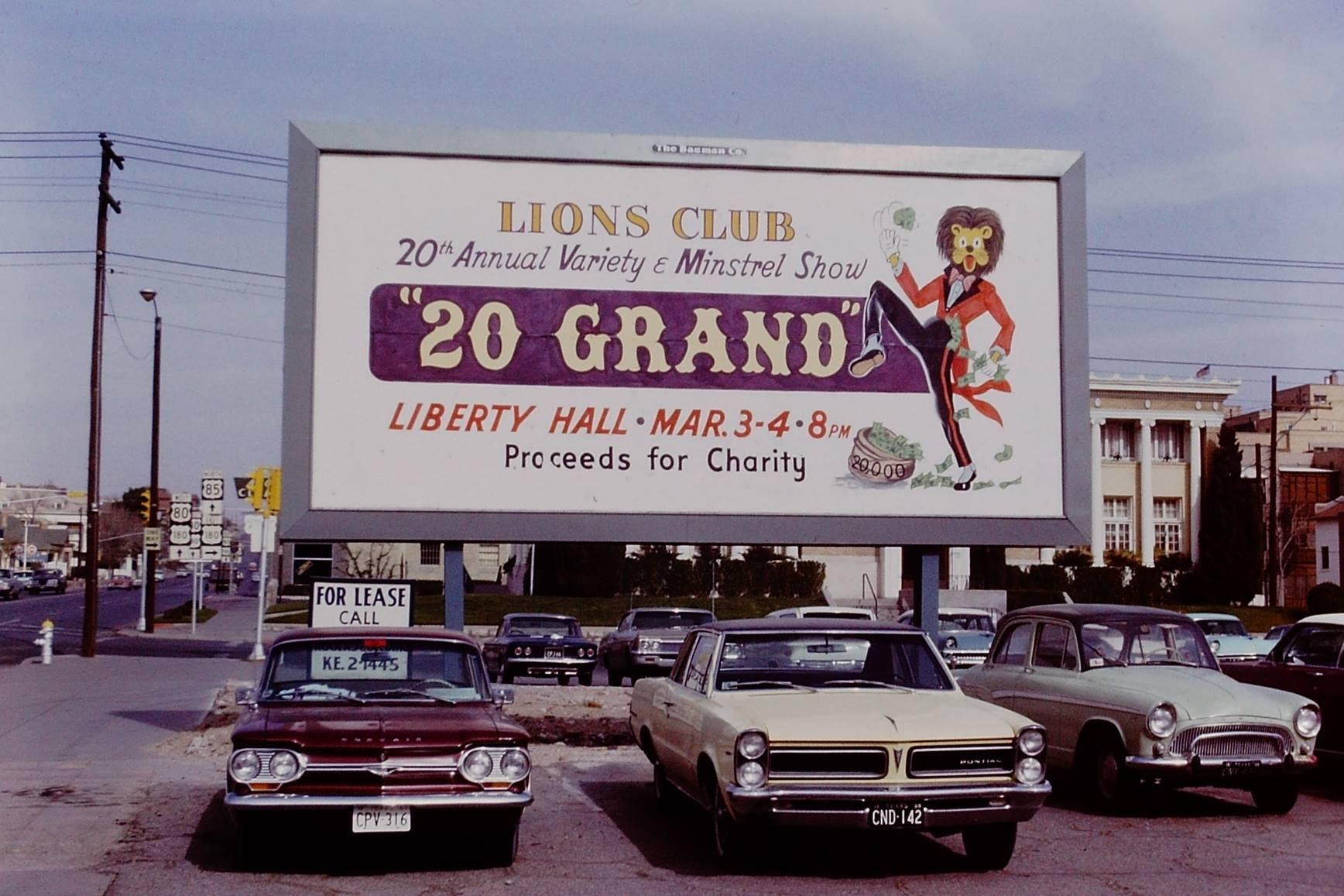 1967 Minstrel Show EPDT Lions Club billboard